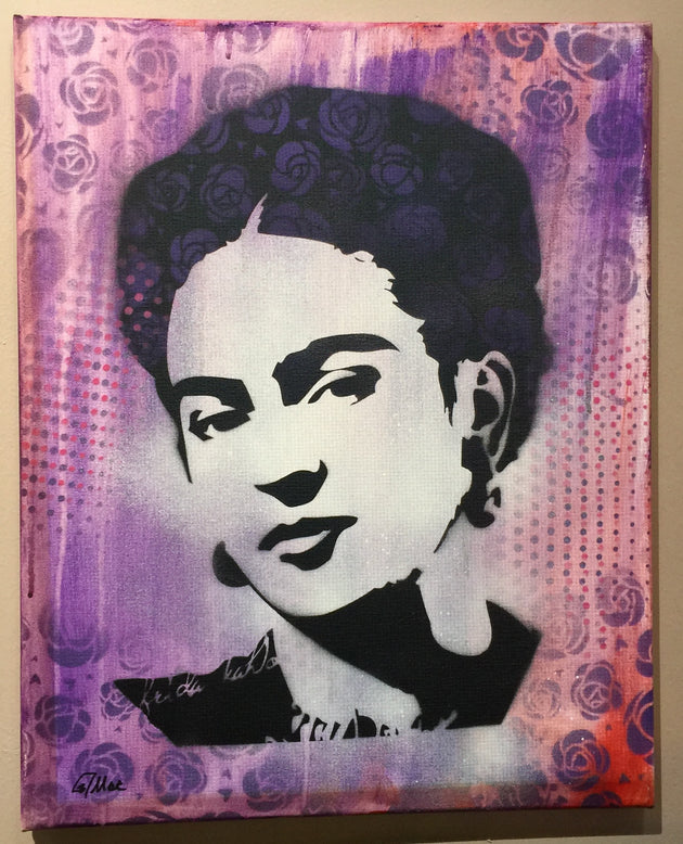 """Frida #1"" by Canvas Vandal  $75"
