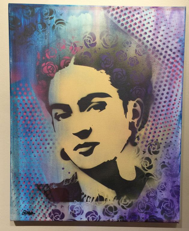 """Frida #2"" by Canvas Vandal  $75"