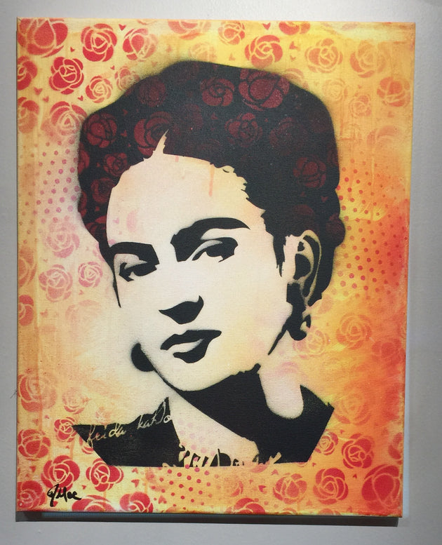 """Frida #3"" by Canvas Vandal  $75"