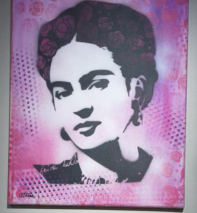 """Frida #4"" by Canvas Vandal  $75"