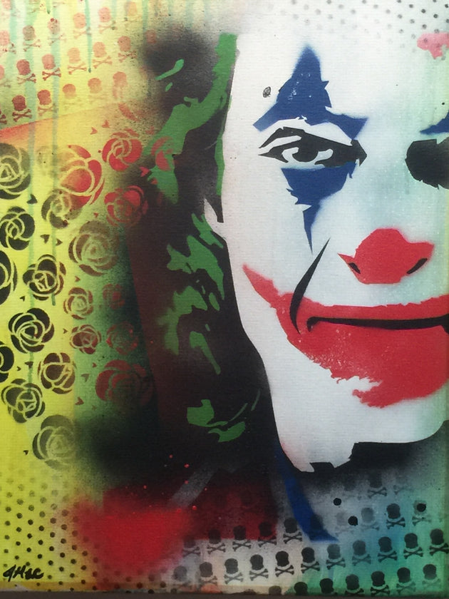 """Joker #3"" by Canvas Vandal  $75"