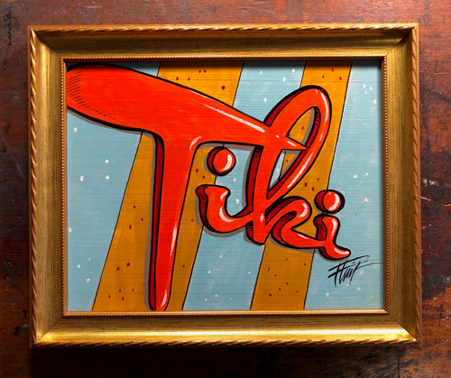 """Tiki Motel"" by William ""Bubba"" Flint $50"