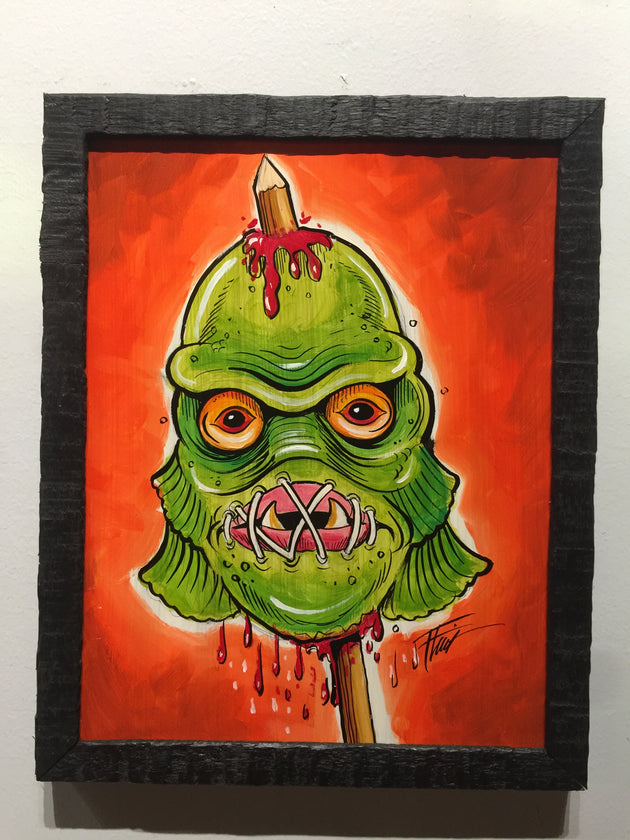 """Creature Head"" by William ""Bubba"" Flint  $60"