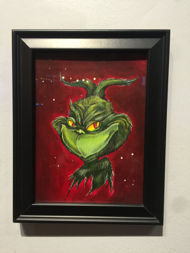 """Mr. Grinch Approves"" by Alex Hundemer  $50"