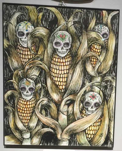 """Calaca Maize"" by Karen Eliza Aguilar"