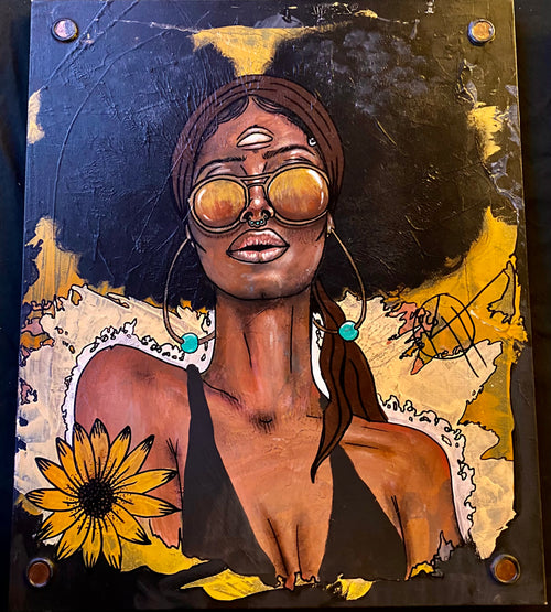 'Third Eye Sunflower Queen' by Kyle Huffman