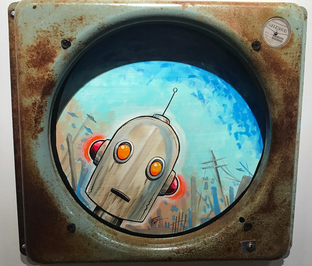 """Peeking Robot"" by William ""Bubba"" Flint"