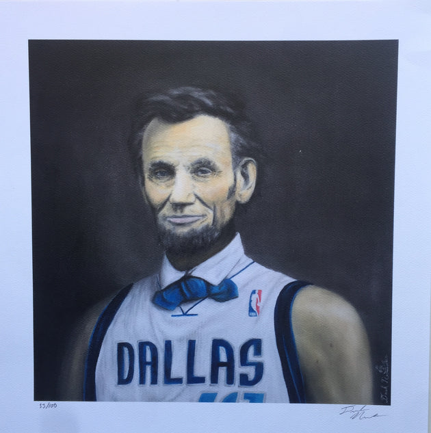 """MVP 41 out of 100"" print by Derek Nemunaitis $60"
