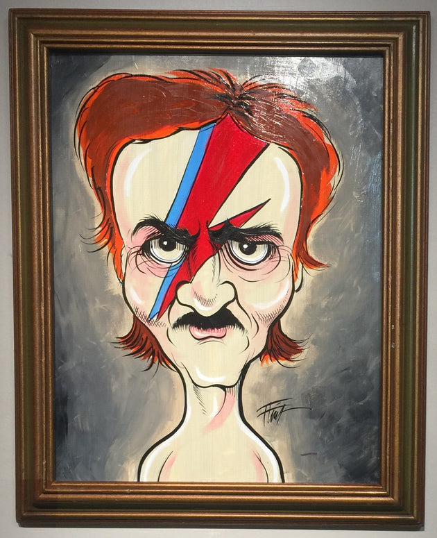 """Edgar Allan Bowie"" by William ""Bubba"" Flint  $175"
