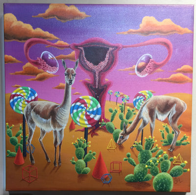 """Life and Non-perishables in the Desert"" by Sarah Curl-Larson  $375"