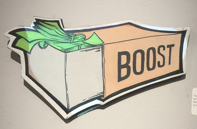 """SnkrMoney brown boost box"" by Rafael Crump"