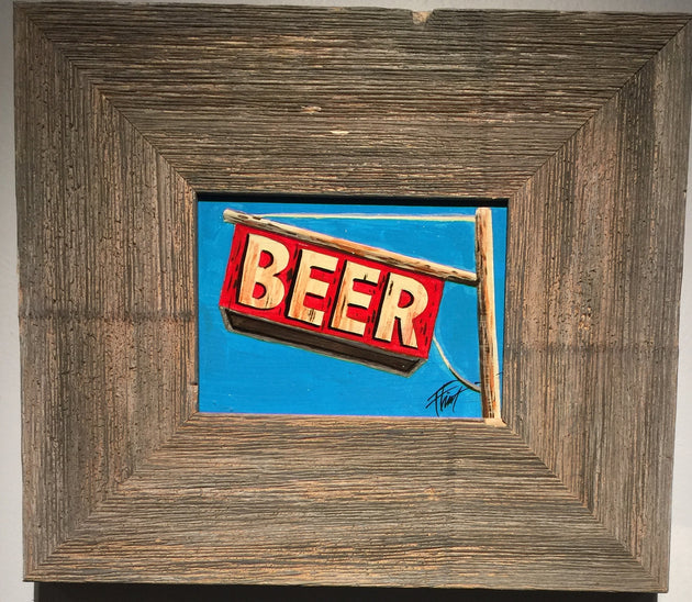 """Beer Sign"" by William ""Bubba"" Flint $60"