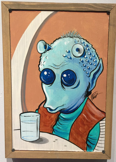 """Star Wars Cantina Blue"" by William ""Bubba"" Flint $120"
