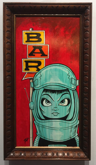 """Space Girl Bar"" by William ""Bubba"" Flint $200"