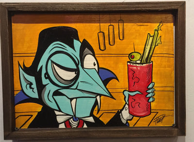 """Count Dracula drinks Bloody Mary"" by William ""Bubba"" Flint $200"
