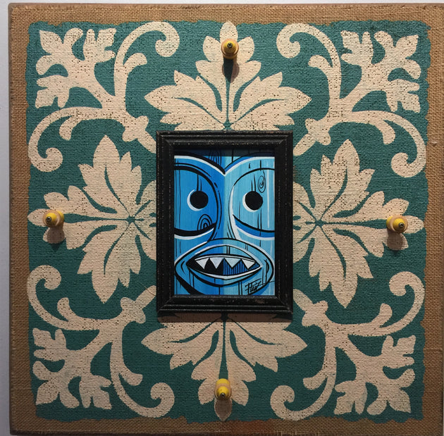 """Blue Tiki"" by William ""Bubba"" Flint $100"
