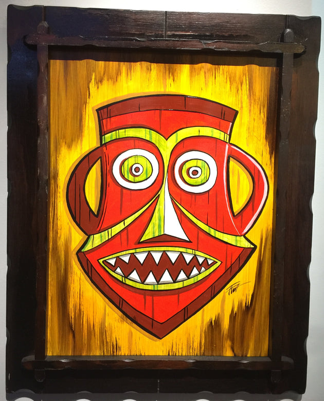 """Orange Tiki"" by William ""Bubba"" Flint $140"