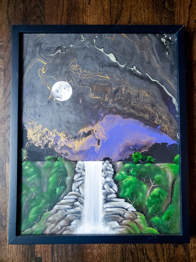 """Moon Waterfall"" by Denise Najera $265"