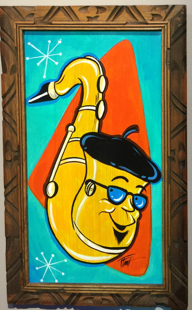 """Sax"" by William ""Bubba"" Flint $140"