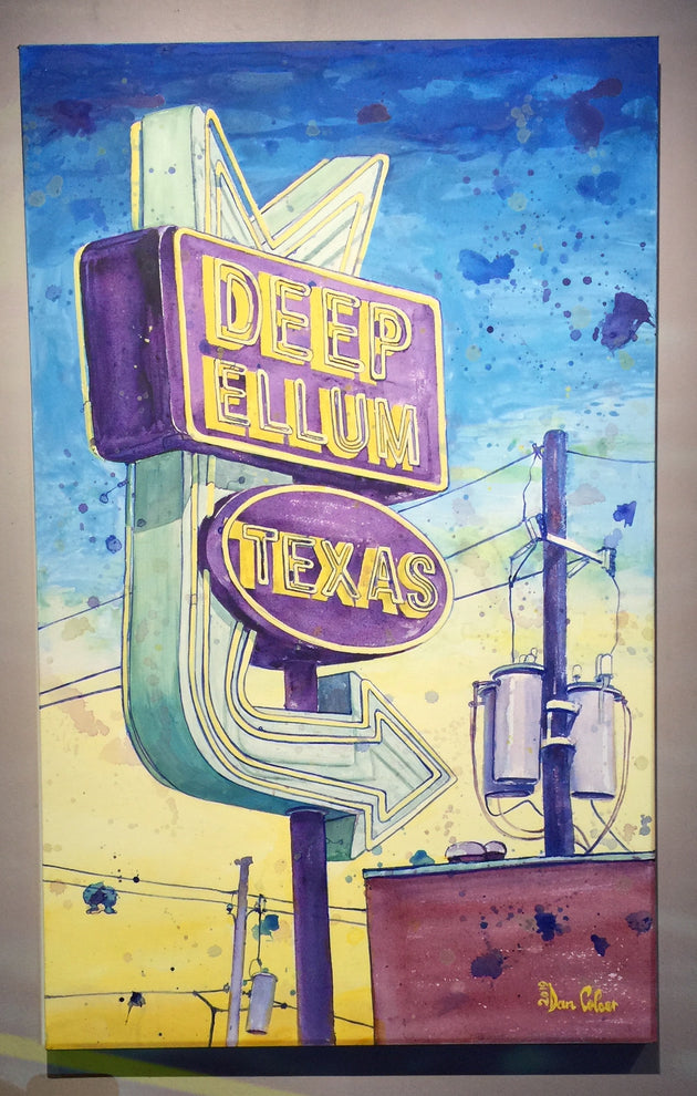 """Deep Ellum sign"" by Dan Colcer $599"