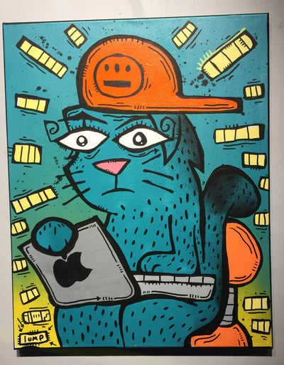 """Less Sad Cat"" by Matt Lumpkins $135"