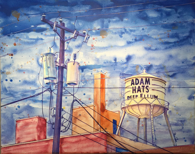 """Adam Hats Building"" by Dan Colcer $699"