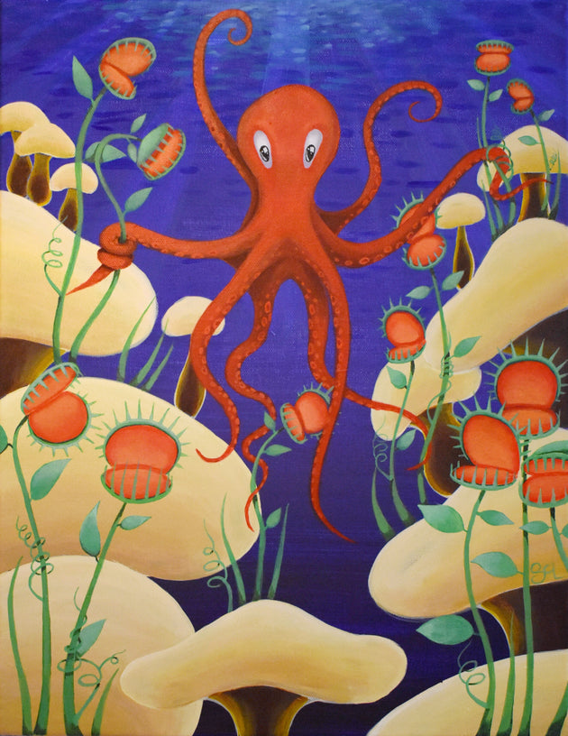 """Octopus's Garden"" Print by Sarah Curl-Larson $25"