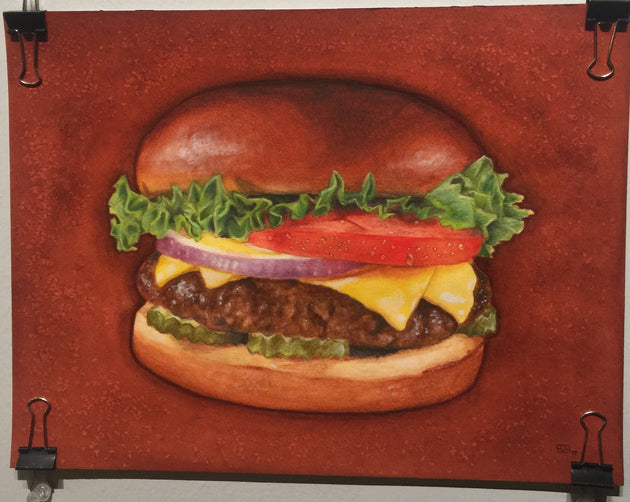 """Cheeseburger"" by Eve Walding  $120"