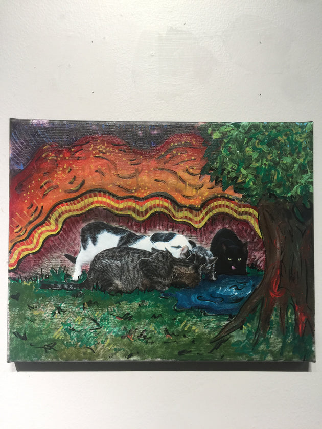 """Kitty Wonderland"" by Andrew Sherman & Skylar Credence  $100"
