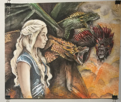 """Fire & Blood"" by Alex Hundemer  $300"