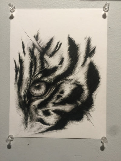 """Tiger Eye"" by Alex Hundemer  $45"