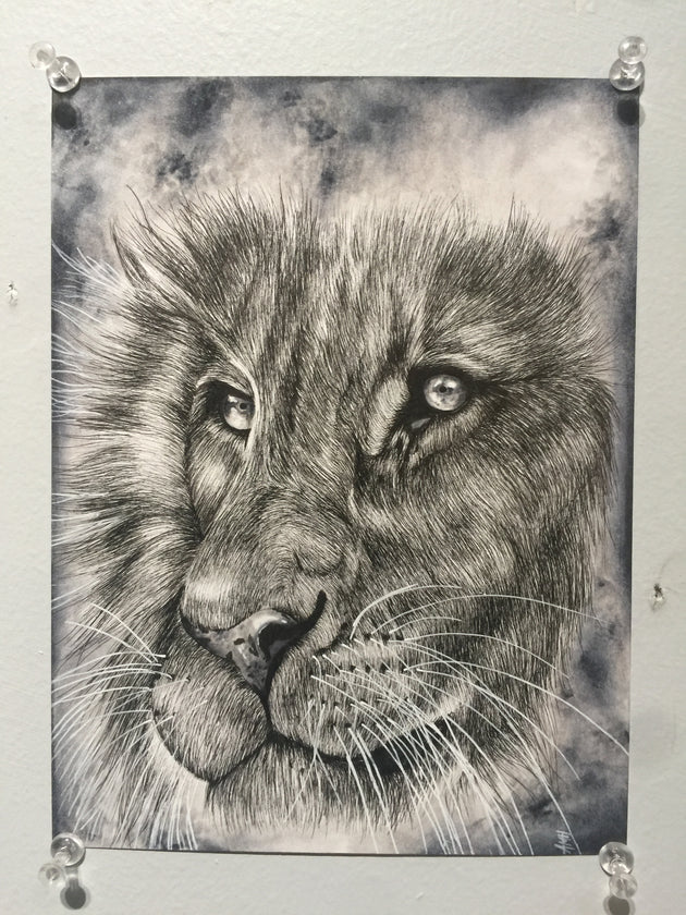 """King's Eyes"" by Alex Hundemer  $50"