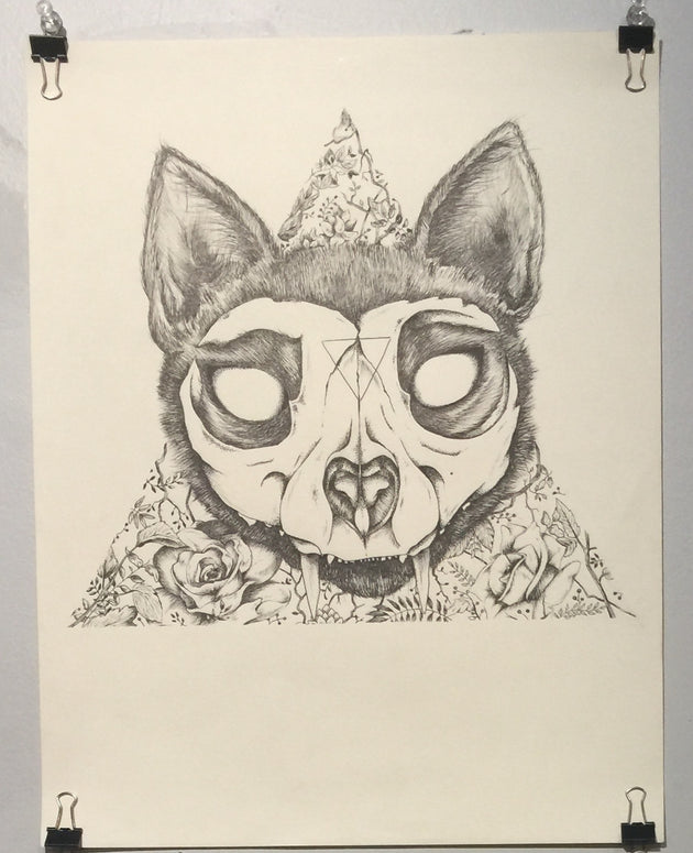 """Ancient Feline"" by Alex Hundemer  $60"