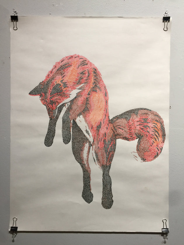 """Mosaic Fox 1"" by Alex Hundemer  $175"