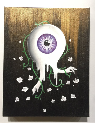 """Purple Eye"" by Megan Najera  $138"