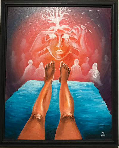 """Convo With Higher Consciousness"" by Karen Eliza Aguilar $200"