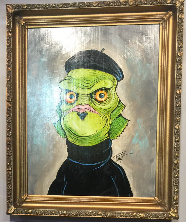 """Creature from the Beat Lagoon"" by William ""Bubba"" Flint  $125"