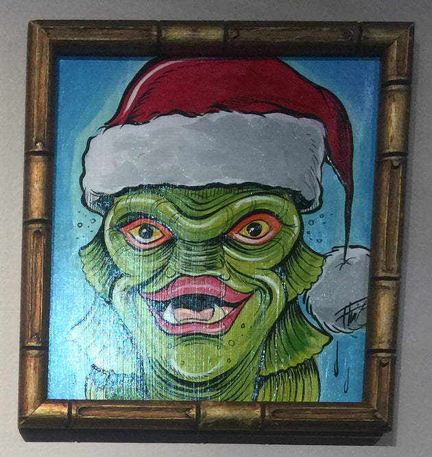 """Santa Creature"" by William ""Bubba"" Flint  $60"