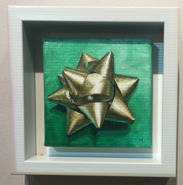 """Gold Christmas Bow"" by Denise Najera  $80"