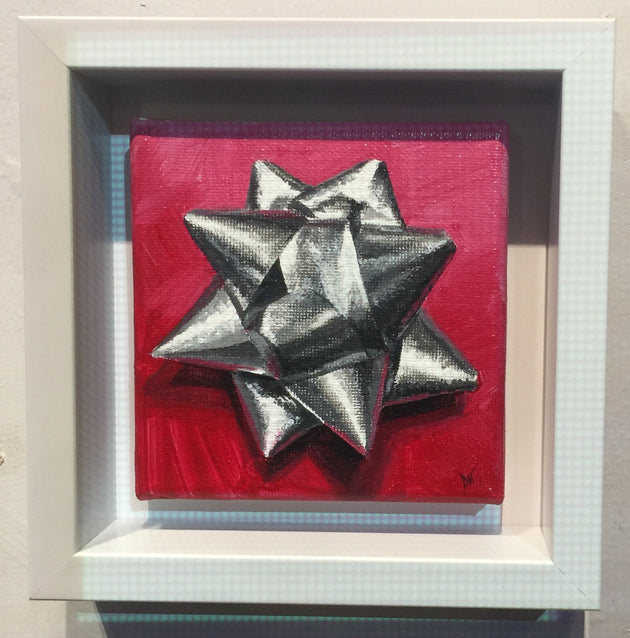 """Silver Christmas Bow"" by Denise Najera  $80"
