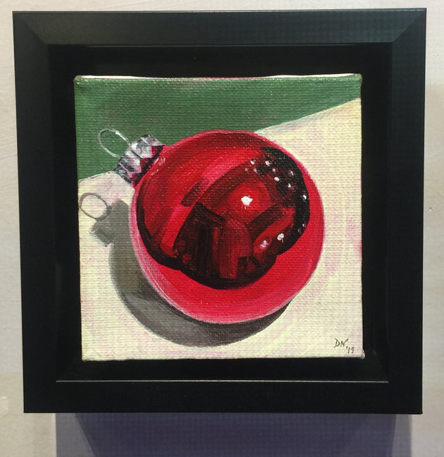 """Red Ornament Study"" by Denise Najera  $75"