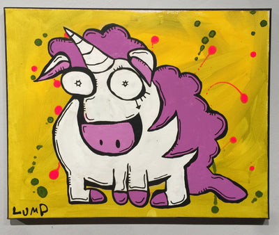 """YelloUniKorn"" by Matt Lumpkins  $135"
