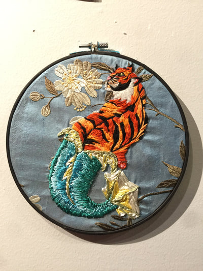 """Tiger Mermaid"" by Carol Tanner  $55"