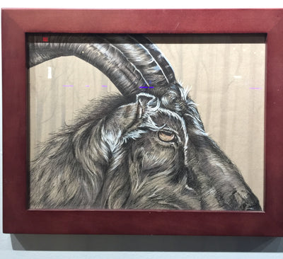 """Black Philip"" by Alex Hundemer  $150"