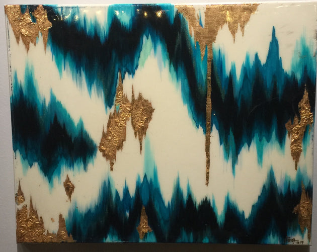 """Teal Vibrations"" by Artist 'till Death Studio"