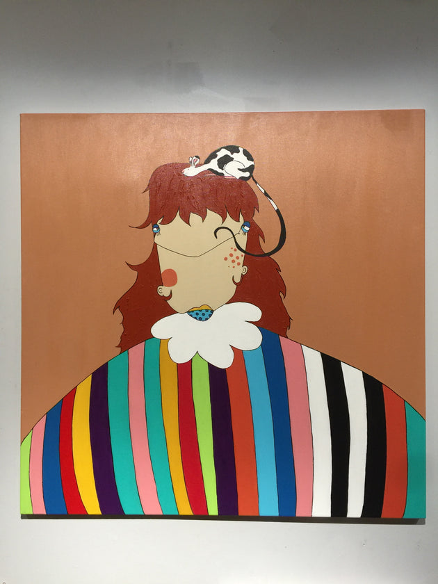 """There's Something On My Head"" by Anette Sandoval $650"
