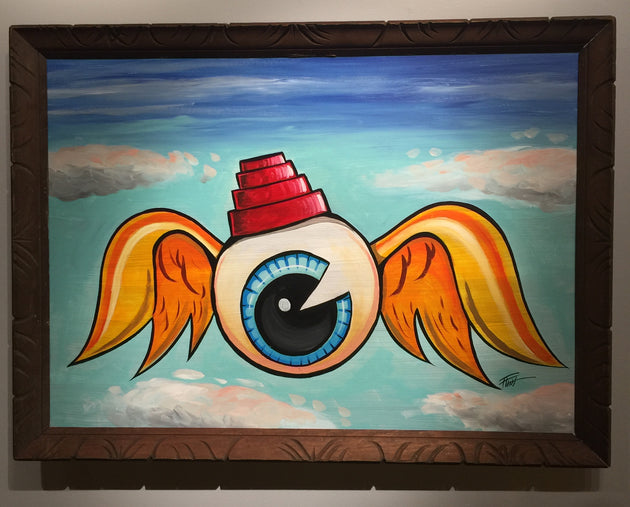 """Flying Eyeball"" by William ""Bubba"" Flint $250"