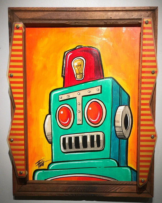 """Pinball Robot"" by William ""Bubba"" Flint $175"