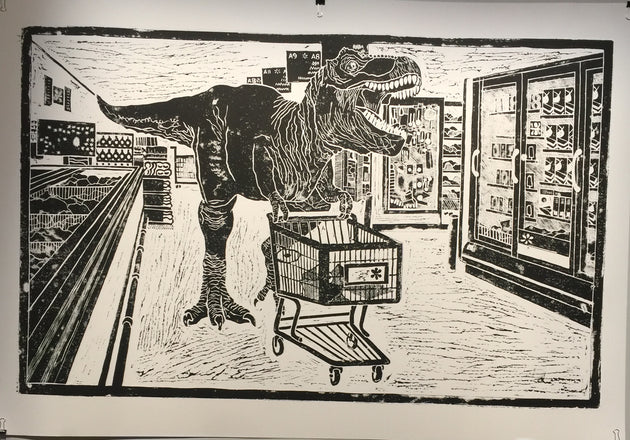 """Dino's of WalMart #1"" by Judy Kriehn"