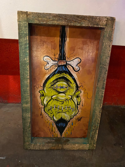 """Single Eye Shrunken Head"" by William 'Bubba' Flint $100"